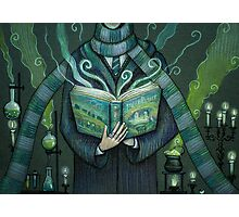Books magic green Photographic Print