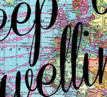 Around the world.. Travel Free! Sticker