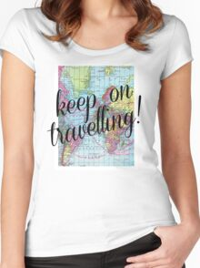Around the world.. Travel Free! Women's Fitted Scoop T-Shirt