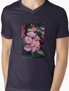 Bed of Roses Mens V-Neck T-Shirt