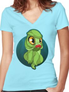 Cutie From The Black Lagoon Women's Fitted V-Neck T-Shirt