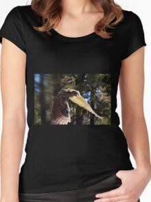 """""""Great Horned Swoop"""" Women's Fitted Scoop T-Shirt"""
