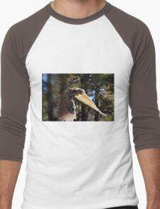 """""""Great Horned Swoop"""" Men's Baseball ¾ T-Shirt"""