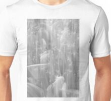 A Peek Behind The Curtain - Black and White Unisex T-Shirt