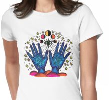 Water Palm Womens Fitted T-Shirt