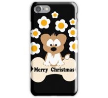 Christmas Dog In Black iPhone Case/Skin