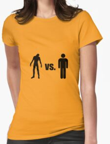 Zombie VS Human Womens Fitted T-Shirt