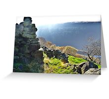 Yorkshire on the brink of the Peaks Greeting Card