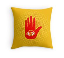 Hand and eye Throw Pillow