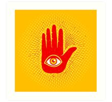 Hand and eye Art Print