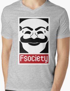 F Society Mens V-Neck T-Shirt