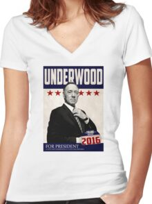 Frank Underwood Women's Fitted V-Neck T-Shirt