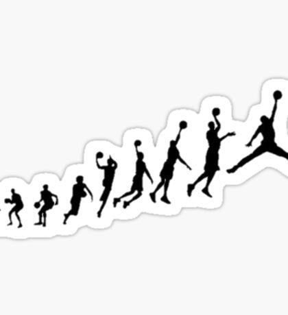 Jumpman evolution Sticker