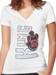 King Jordan Women's Fitted V-Neck T-Shirt