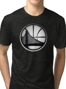golden state warriors black Tri-blend T-Shirt