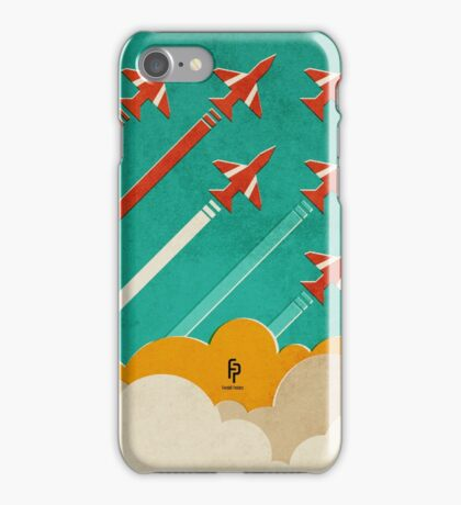 The Red Arrows over the Thames Estuary iPhone Case/Skin