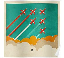 The Red Arrows over the Thames Estuary Poster