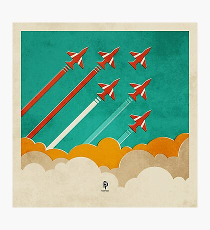 The Red Arrows over the Thames Estuary Photographic Print