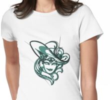 Green venice mask Womens Fitted T-Shirt