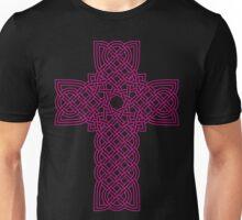 TCS3C Celtic Cross Magenta on Black Unisex T-Shirt