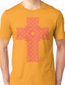 TCS3C Celtic Cross Magenta on Black Unisex T-Shirt