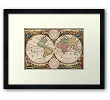 Around the world.. Wanderlust! Framed Print
