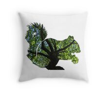 Squirrel in the Canopy Throw Pillow