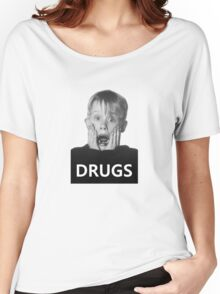 Macaulay Culkin -Drugs- Women's Relaxed Fit T-Shirt