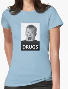 Macaulay Culkin -Drugs- Womens Fitted T-Shirt