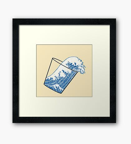 Glass Half Full Event Horizon Framed Print