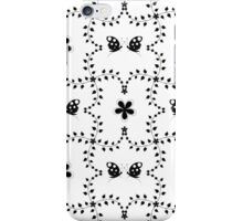 Seamless pattern of floral and butterfly iPhone Case/Skin