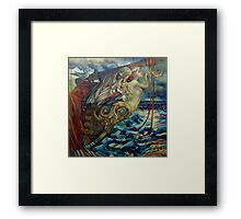 figurehead or ... fishing Framed Print