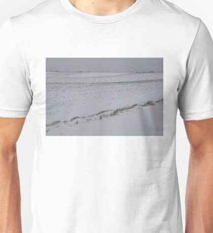 Fertile Farm Fields Sleeping Under the Snow Unisex T-Shirt