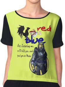 Red Vs Blue Chiffon Top