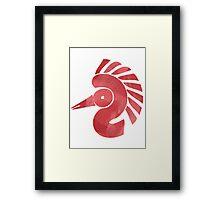 Symbolic bird Framed Print