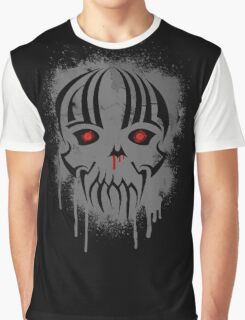Bleeding Skull - Modern Skull with Blood and Grunge Texture Graphic T-Shirt