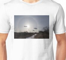 Sun Halo - a Beautiful Optical Phenomenon in the Winter Sky Unisex T-Shirt