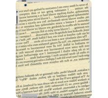 Reversed Killer Text iPad Case/Skin