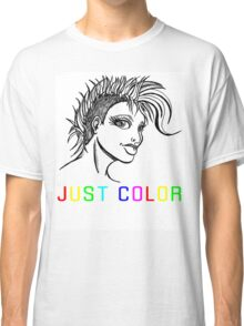 """JUST COLOR - """"Mohawk Girl"""" Classic T-Shirt"""