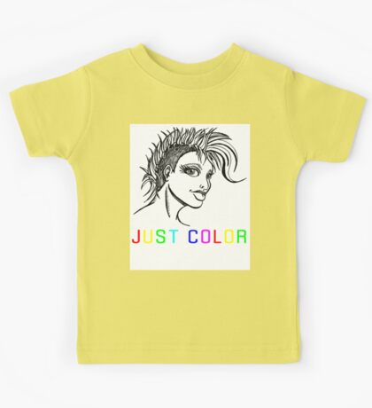 "JUST COLOR - ""Mohawk Girl"" Kids Tee"