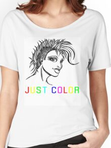 "JUST COLOR - ""Mohawk Girl"" Women's Relaxed Fit T-Shirt"