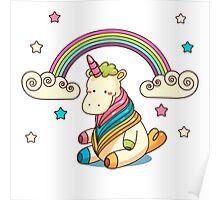 Rainbow, stars and unicorn ^_^ Poster
