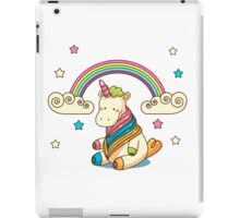 Rainbow, stars and unicorn ^_^ iPad Case/Skin