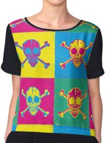 bright color skulls Chiffon Top