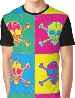 bright color skulls Graphic T-Shirt