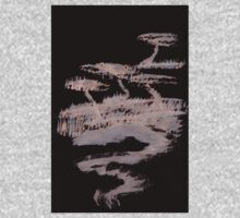 0082 - Brush and Ink - A Drift of Hills One Piece - Long Sleeve