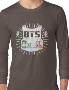 BTS Bulletproof Rainbow Watercolor Long Sleeve T-Shirt
