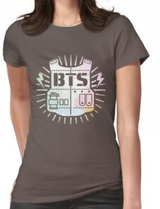 BTS Bulletproof Rainbow Watercolor Womens Fitted T-Shirt