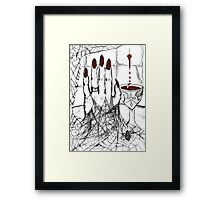 Blood, Chalice, Black Widow Framed Print