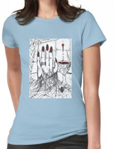 Blood, Chalice, Black Widow Womens Fitted T-Shirt